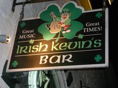 Irish Kevin's Bar in Key West Florida. Live music with a happy crowd.