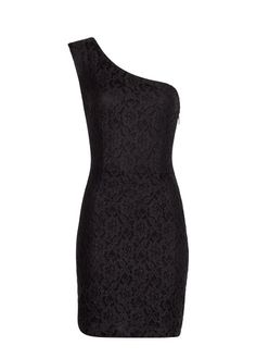 MANGO - Vestido asimétrico encaje