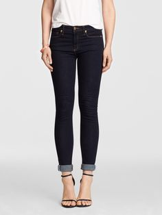 """Just like the Nashville honky tonk it's named after, our Tootsie Jean feels like home. W/ the perfect skinny fit and just the right amount of stretch, Tootsie features special details like a coin pocket embroidered w/ """"DJ"""". Proudly manufactured in Blue Ridge, Georgia, these jeans are a true southern original. One tip: we recommend sizing up if you're between sizes! Reese Witherspoon's website draperjames.com - Cost: $69.98 - Size: 6 (or waist equivalent)..."""