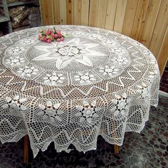 Made To Order Round Crocheted Round by TableclothShop on Etsy