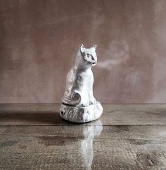 The Smoking Cat Incense Burner, designed by the brilliant Setsuko Klossowska de Rola