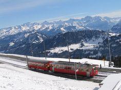 Swiss Railroads Switzerland | Swiss Mountain Train, a photo from Schwyz, East | TrekEarth