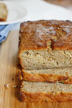 A wonderfully moist, fully flavorful, yet fabulously lighter zucchini bread is sure to please as both breakfast or dessert!