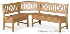 dřevěná rohová jídelní lavice z masivního dřeva Berlin Dining Bench, Kitchen, Furniture, Design, Home Decor, Garden, Google, Rustic Industrial, Houses