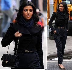 My Style: All Black. Kourtney Kardashian gets it right, again