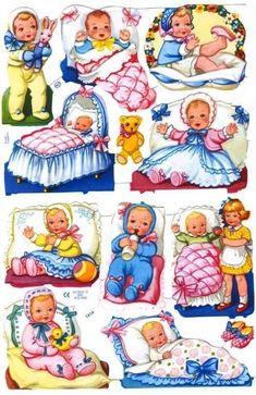Scraps Art Crafts Sheet Baby Babies Teddies Infants You Choose Oblaten Kinder