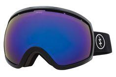 Electric - EG2 Gloss Black Goggles, Brose/Blue Chrome Lenses