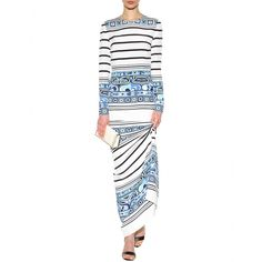 mytheresa.com - Floor-length printed silk dress - Midi & long - Dresses - Clothing - Emilio Pucci - Luxury Fashion for Women / Designer clothing, shoes, bags