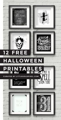 In which I round up 12 free Halloween printables to decorate your house last-minute and still look like you had it together. Wink, wink.