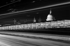 The rush past St Paul's | Blackfriars Bridge & Station, with St Paul's and the Barbican in the background