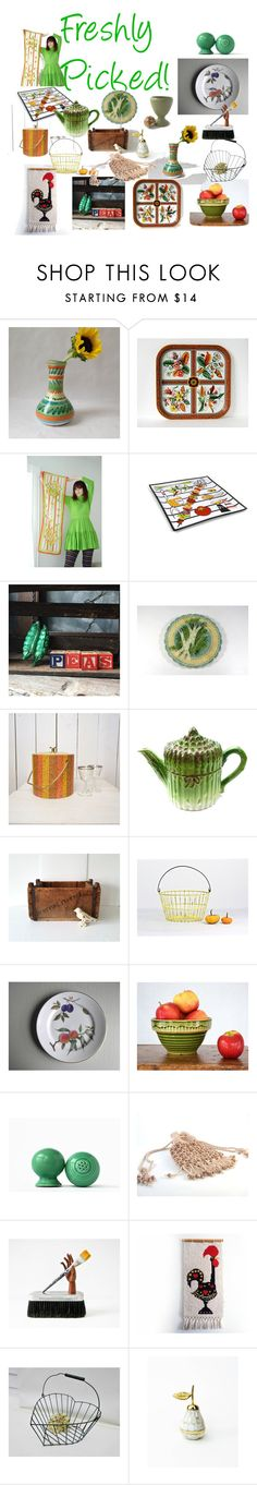 Freshly Picked by alegriacollection on Polyvore featuring interior, interiors, interior design, home, home decor, interior decorating, MCM, vintage, etsy and VintageAndMain
