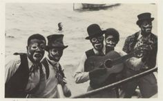 Kaisonians in blackface, POS Harbour, 1930s    Kaiso is said to be a Yoruba word meaning 'bravo'. The earliest record of a calypsonian is actually that of Gros Jean. He was a plantation slave in the very early 19th century in Diego Martin, owned by the powerful and wily Frenchman, St. Hilaire Begorrat who had settled in the area during the Cedula of Population of 1783.