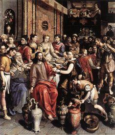 Marten de Vos, The Marriage at Cana c. 1596-97