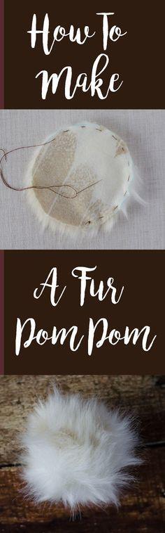 How to make a fur pom pom
