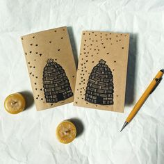 Oh Beehive! 🐝 Medieval bee skep design printed on handmade notebooks, sustainable paper, no bees were hurt in the making of these books ✌️available on @etsy hand not for sale, DM for model inquiries ✋️#beehive #handmade #handmodel #linocut #print #im_printed #etsy #etsyshop #etsyseller #etsysellersofinstagram #printmaking #openhand #emptycup