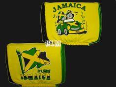 Reggae Land Muzik Store - Jamaica Flag - Auto Seat Head Rest Covers (Pair), $19.98 (http://www.reggaelandmuzik.com/jamaica-flag-auto-seat-head-rest-covers-pair/)