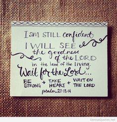 I am confident card quote april 2014