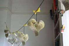 Valentines Day heart garland - You can use book pages, junk mail, wrapping paper, or any other scrap paper that you like!