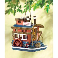 Riverboat Queen Birdhouse. ECA LISTING BY Global-Living Online Retail, Lower Sackville, Nova Scotia, Canada