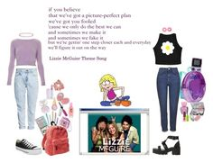 """""""Lizzie McGuire"""" by silly-stegosaurus ❤ liked on Polyvore featuring Maybelline, Paul & Joe, Wet n Wild, Forever 21, Converse, Gap, Oh My Love, Topshop, H&M and McGuire"""