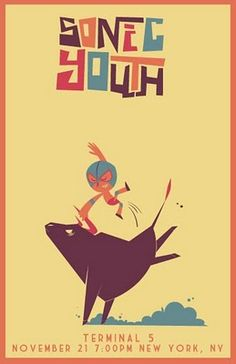 Sonic Youth gig poster by Bob O'Herlihy