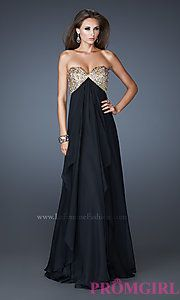 Buy Flowing Strapless Sweetheart Formal Gown at PromGirl