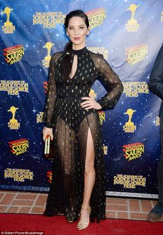 Not subtle:This comes after she made a fashion statement on Wednesday when she walked the red carpet of the Saturn Awards - which honor the top picks for science and fantasy films - in Burbank