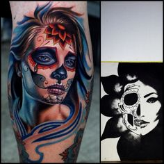 I have a thing for sugar skulls.. Want this tattoo and that's a painting of mine!