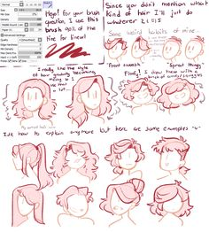 Drawing - How to draw hair - Art reference - Drawing reference - Drawing tutorial - Art drawin Drawing Tutorials, Drawing Tips, Art Tutorials, Drawing Sketches, Drawing Ideas, Drawing Techniques, Hair Styles Drawing, Art Drawings, Girl Hair Drawing