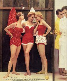 trajes de baño vintage.