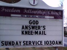 Just don't hit the repray-all button. 25 Church Signs That Are Too Clever For Their Own Good Church Sign Sayings, Funny Church Signs, Church Jokes, My Church, Church Ideas, Christian Messages, Christian Humor, Christian Signs, Funny Signs For Work