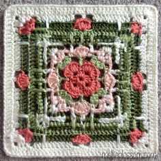 10 FREE 12 Inch Afghan Square Crochet Patterns - The Lavender Chair - crochet motifs, squares & doilies Point Granny Au Crochet, Crochet Squares Afghan, Crochet Motifs, Crochet Blocks, Granny Square Crochet Pattern, Crochet Afghans, Afghan Crochet Patterns, Crochet Doilies, Crochet Stitches