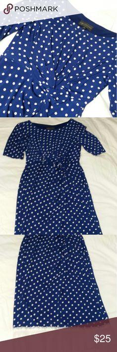 Connected Apparel Polka Dot Dress GUC Dress...Seller added trim at bottom.... Dresses
