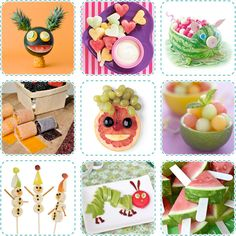 Random Coolness... Creative Fruit Recipes Toddler Meals, Kids Meals, Cute Food, Good Food, Diy Food, Food Ideas, Boite A Lunch, Vegetable Carving, Fruit Art
