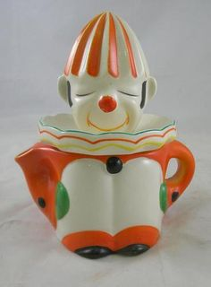 Old Made in Japan Figural Clown Juice Reamer Pitcher