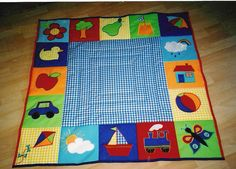 Patchwork quilt boys appliques new Ideas Quilt Baby, I Spy Quilt, Baby Patchwork Quilt, Baby Quilt Patterns, Baby Sewing Projects, Quilting Projects, Baby Applique, Diy Bebe, Animal Quilts