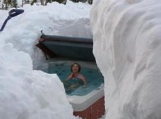 Hot tub in Minnesota. How awesome is that!!!