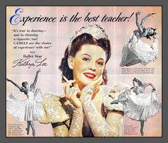 ... Vintage cigarette ad, Smoking Ballerina! 1948 Saturday Evening Post | by mcudeque