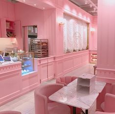 Shared by 💗𝘱𝘪𝘯𝘬 𝘱𝘳𝘪𝘯𝘤𝘦𝘴𝘴💗. Find images and videos about pretty, pink and food on We Heart It - the app to get lost in what you love. Coffee Shop Design, Cafe Design, Pink Cafe, Pink Room, Pink Houses, Pink Walls, Everything Pink, Pink Aesthetic, Cute Pink