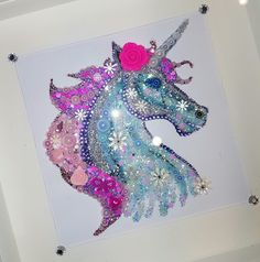 Sparkly unicorn by me! Fun Crafts For Kids, Art For Kids, Diy And Crafts, Unicorn Crafts, Unicorn Art, Camilla Rose, Unicorn Birthday Cards, Unicorn Pictures, Unicorn And Glitter