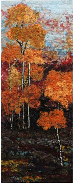 Autumn Colors by Caroline Sharkey, in: Living Colour! celebrating life across the spectrum. Confetti layered background.
