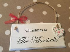 PERSONALISED christmas plaque xmas decoration gift warm welcome any words in Plaques & Signs | eBay