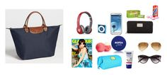 """""""What I keep in my bag for my trip to Hamburg (my exact stuff)"""" by inspiredbyeleanorcalder ❤ liked on Polyvore featuring Longchamp, Beats by Dr. Dre, Samsung, Marc by Marc Jacobs, Eos, Nivea, Michael Kors, H&M, Ray-Ban and women's clothing"""
