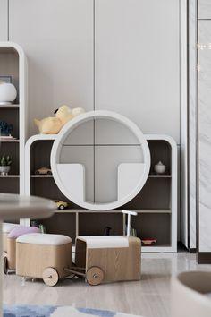 Playroom Furniture, Sofa Furniture, Kids Furniture, Kids Cafe, Nursery Design, Kid Spaces, Kids Bedroom, Shelves, Home Decor