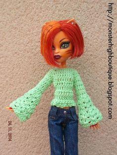 Ropa para Monster High: jersey J64 de For dolls boutique por DaWanda.com