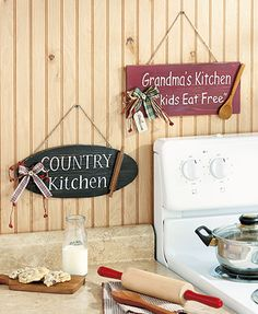 Country Kitchen Wall Signs