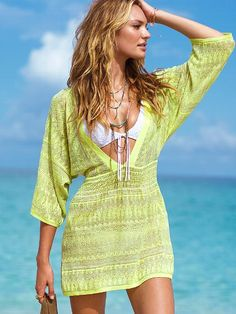 VictoriasSecret cover up to go with my Neon Margarita swim suit