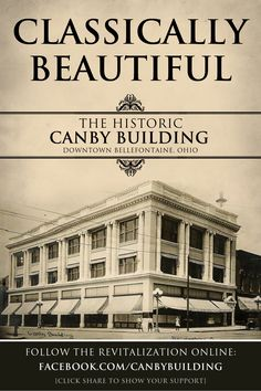 You can follow the revitalization efforts on our Facebook Page, check out the original beauty at its peak in 1912. Bellefontaine Ohio, Historical Sites, The Originals, Building, Classic, Beautiful, Memories, Facebook, Check
