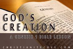 GENESIS 1 BIBLE LESSON