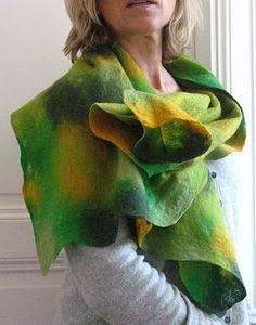 Feutre Art Textile: Portrait de Krystel Chavigny